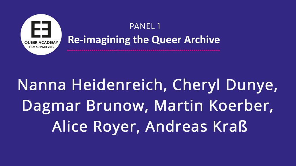 Panel Re-imagining the Queer Archive