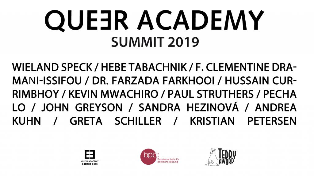 Queer Academy Summit 2019 Ankündigung