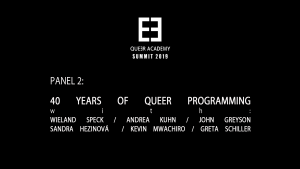 Queer Academy Panel 2-40 Years of Queer Programming
